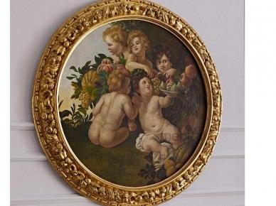 Картины 5005 Круглая картина с ангелами (Andrea Fanfani)