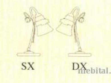 Настольная лампа ART. C 1002 SX DX (Ferroluce)