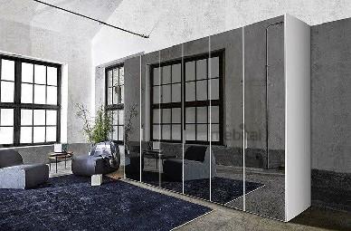 Распашной шкаф GLASS PROFILE / MIRROR (Zanette)