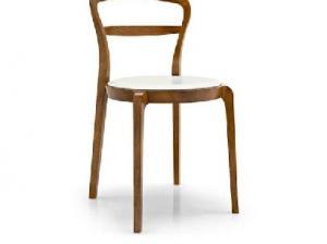 Деревянный стул Cloe leather CS/1086-LH (Calligaris)