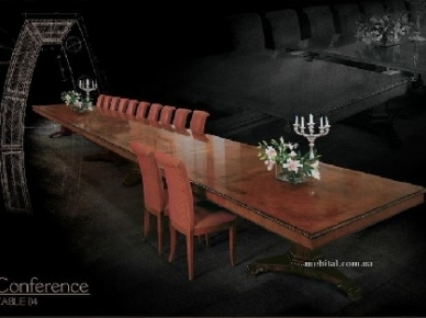 Conference Table 04 Angelo Cappellini Мебель для переговорной