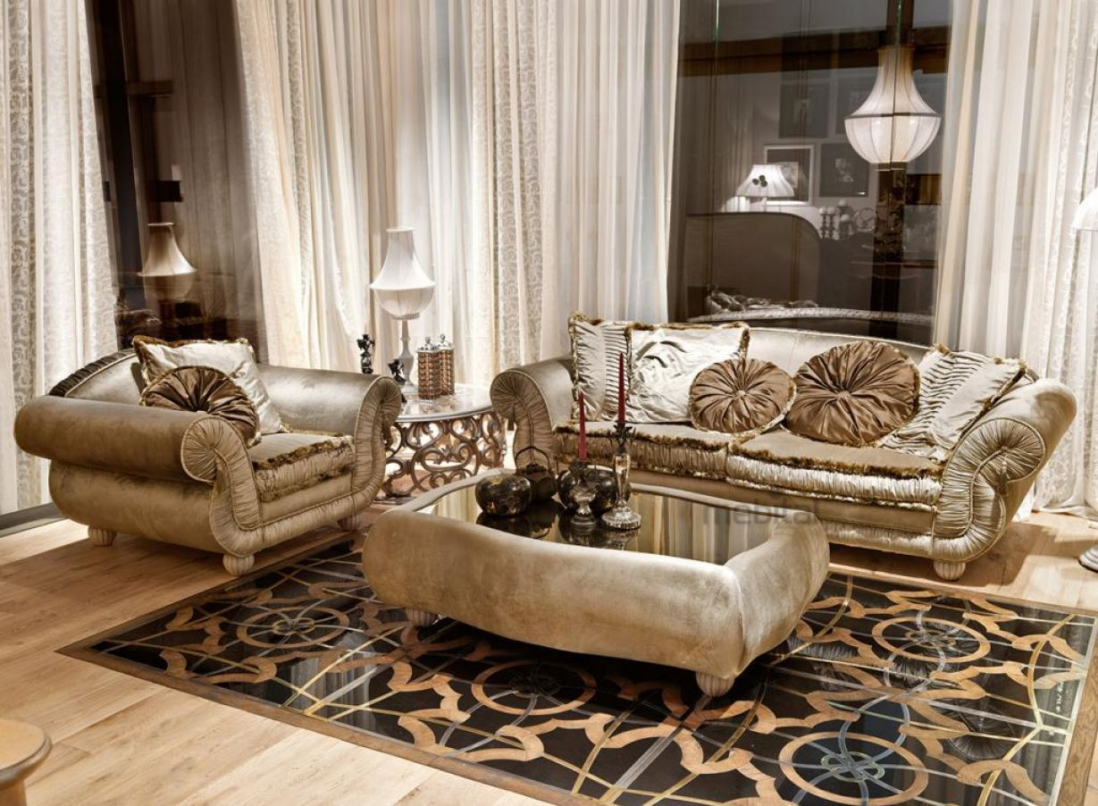 Основная особенность римского стиля - ярко выраженный центр помещения.