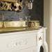 Versailles 128 Lavabo In Vetro Avorio Con Decori Bagno Piu Мебель для ванной фото 2