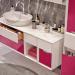Ventidue Bianco Opaco / Chianti Lucido Bagno Piu Мебель для ванной фото 4
