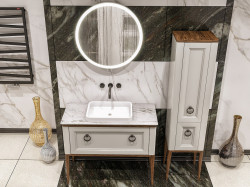 Tribeсa 100 Bianco Opaco Bagno Piu Мебель для ванной