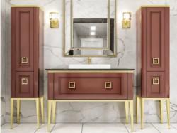 Tribeca 100 Caffe Lucido Con Oro Bagno Piu Мебель для ванной