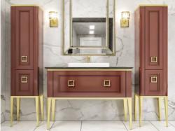 Tribeca 120 Caffe Lucido Con Oro Bagno Piu Мебель для ванной