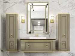 Tribeca 120 Oliva Lucido Con Oro Bagno Piu Мебель для ванной