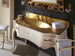 Versailles 128 Lavabo In Vetro Avorio Con Decori Bagno Piu Мебель для ванной