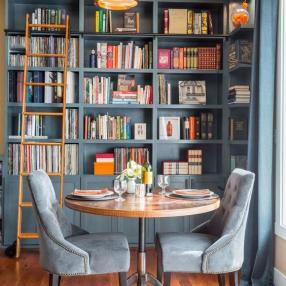Дизайнерские идеи для домашней библиотеки