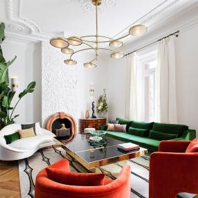 Для вдохновения: шикарная квартира в стиле ар-деко в Мадриде
