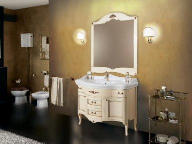 Palladio 110 Avorio Con Oro Opaco Bagno Piu Мебель для ванной