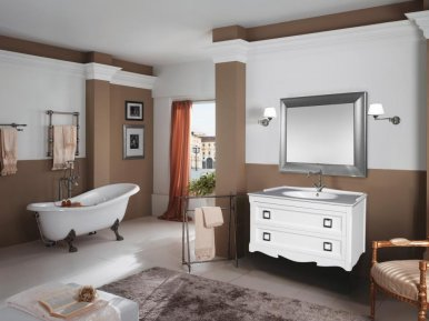 Moretta 2.0 107 Bianco Opaco Bagno Piu Мебель для ванной
