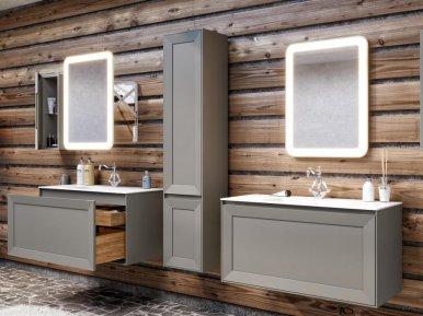 Millennio Cemento Opaco Bagno Piu Мебель для ванной