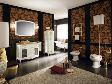Poesia 130 Bianco Con Oro Opaco Bagno Piu Мебель для ванной