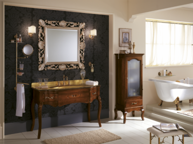 Versailles 128 Lavabo In Vetro Noce Opaco Bagno Piu Мебель для ванной