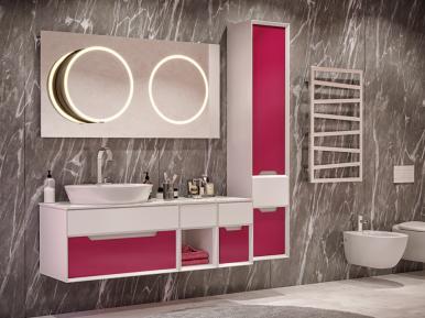 Ventidue Bianco Opaco / Chianti Lucido Bagno Piu Мебель для ванной