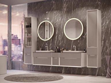 Ventidue Bianco Opaco / Cemento Opaco Bagno Piu Мебель для ванной