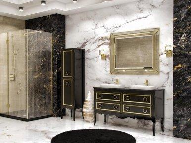 Moretta 2.0 150 D Antracite Con Oro Lucido Bagno Piu Мебель для ванной