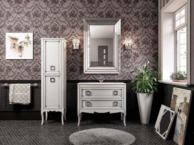 Moretta 2.0 96 Bianco Con Argento Opaco Bagno Piu Мебель для ванной