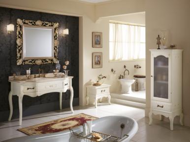Versailles 128 Avorio Con Decori Bagno Piu Мебель для ванной
