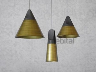 Slope bronze Miniforms Потолочная лампа