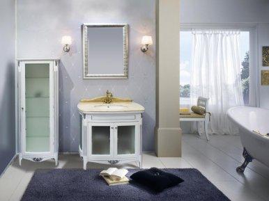 Poesia 90 Bianco Con Argento Opaco Bagno Piu Мебель для ванной